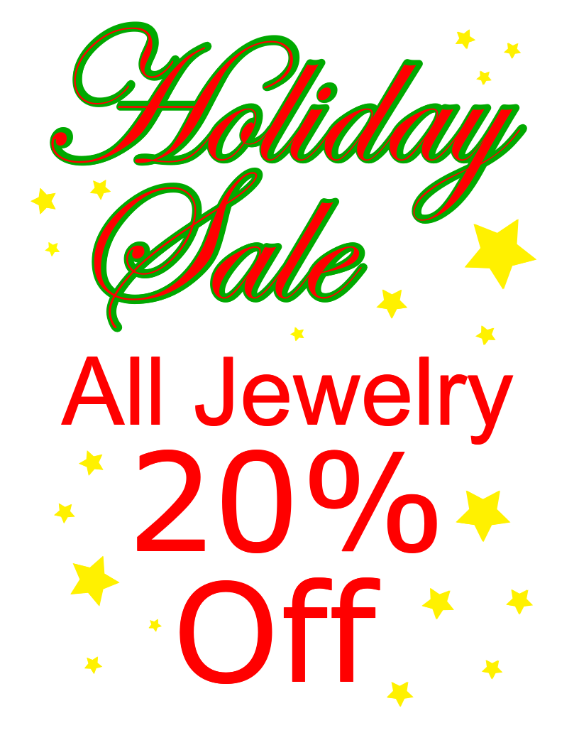 Holiday Sale 20 off Jewelry