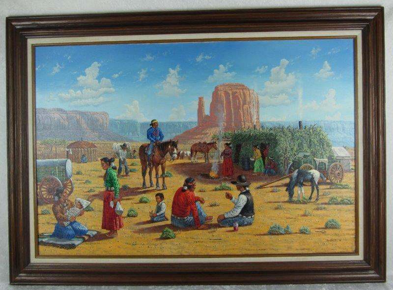 Robert Becenti Painting