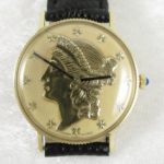 Lucien Piccard 14K Yellow Gold Liberty Dial Watch