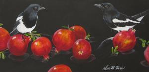 """Black, White, & Red"" Paula Voris"