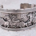 White Buffalo Sterling Silver Storyteller Bracelet