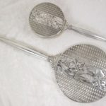 Napier Art Deco Sterling Silver Hand Mirror and Brush Set