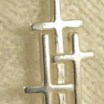 Sterling Silver 3 Cross Pendant Small