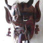Vintage Mexican Diablo / Devil Dance Mask from Guanajuato, Mexico