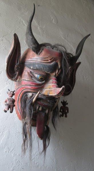 Vintage Mexican Diablo / Devil Dance Mask from Guanajuato, Mexico