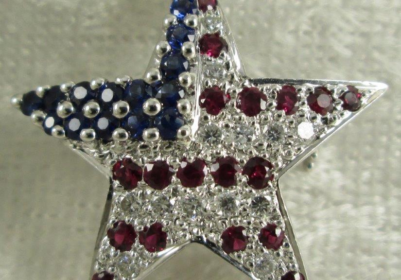 U.S. Flag Brooch Pin