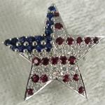 US Flag Brooch Pin