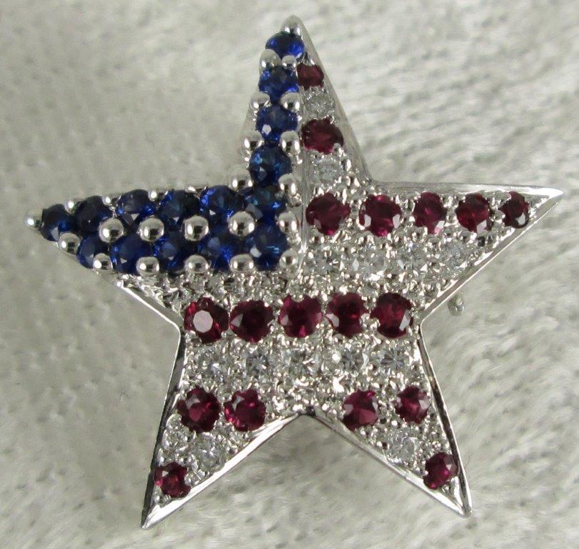 US Flag Brooch Pin