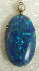 Black Opal Pendant Necklace