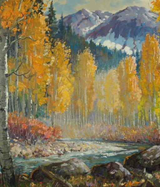 "Ben Turner Painting ""Colorado Aspen"""