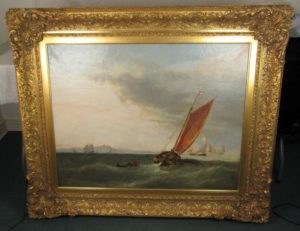 1853 British Maritime Oil Painting