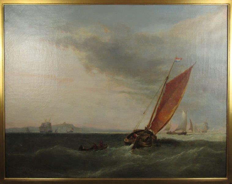 1853 British Maritime Oil Painting