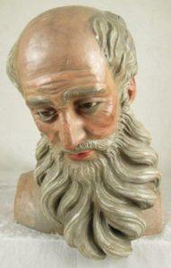 Antique Wood Santo Head