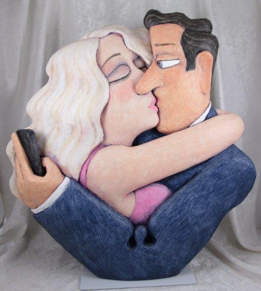 "Stephen Hansen Sculpture ""Kiss and Tell"""