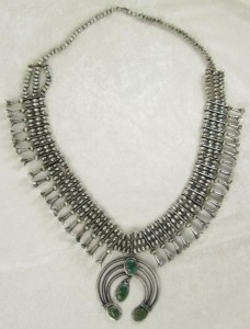 Antique Navajo Squash Blossom Necklace