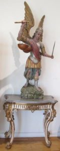 Antique Wood Santo of St. Michael