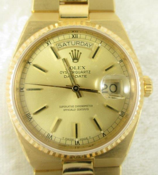 Mans 18K Gold Rolex President