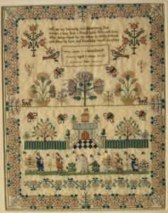 1830 Pictorial Sampler