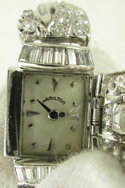 Hamilton Platinum Diamond Watch