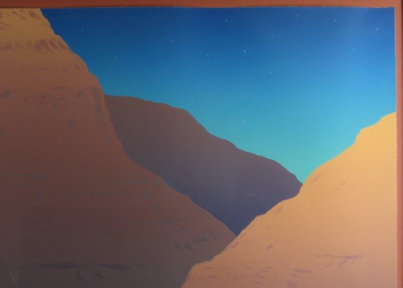 R.C. Gorman Lithograph Canyon De Chelley Twilight