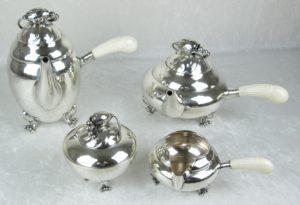 Georg Jensen Blossom Tea Set