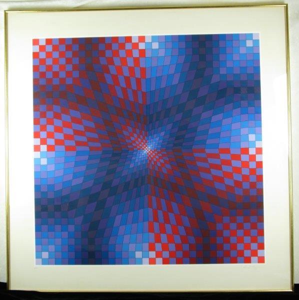 """Victor Vasarely Print """"Pauk Arny"""""""