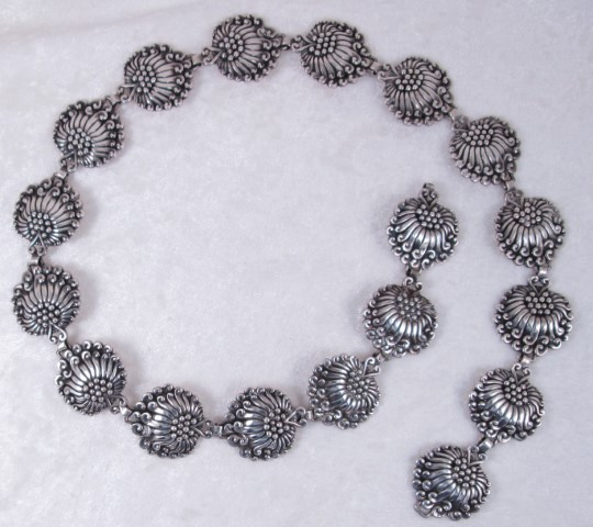 Margo De Taxco Sterling Silver Belt