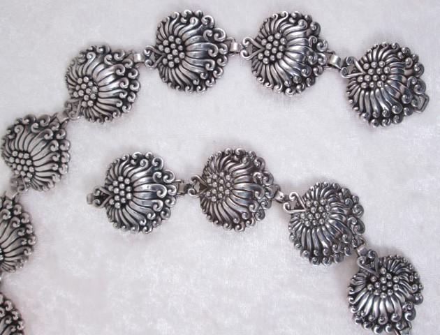 Margo De Taxco Sterling Silver Belt