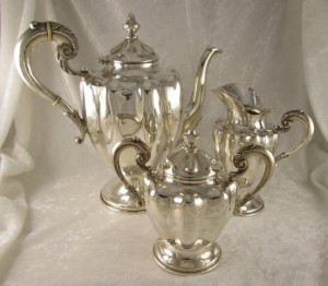 3 Piece Mexican Sterling Tea / Coffee Service