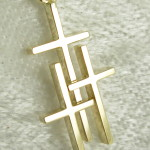 Small 14K 3 Cross Pendant